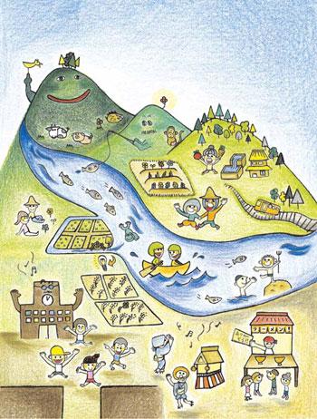 メタ森の描く理想の郡上の風景